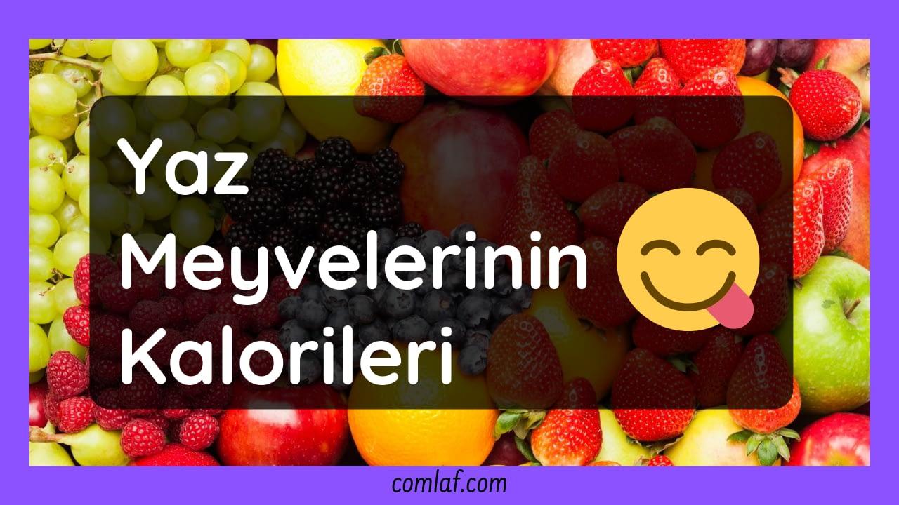 Yaz Meyvelerinin Kalorileri
